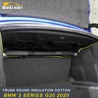 Gelinsi Trunk Firewall Mat Pad Cover Deadener Interior Noise Heat Sound Insulation Cotton for BMW 3 Series G20 2020 Car
