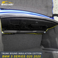 Gelinsi Trunk Firewall Mat Pad Cover Deadener Interior Noise Heat Sound Insulation Cotton for BMW 3 Series G20 2020 Car