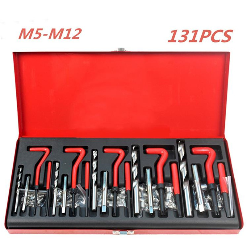 New Durable Thread Repair Tool Helicoil Rethread Repair Kit Set Garage Workshop Tool Professional Recoil Repair Tool