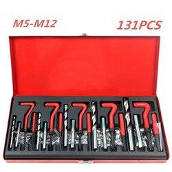 Nueva herramienta de reparación de rosca duradera Helicoil Rethread Kit de reparación conjunto de taller de garaje herramienta de reparación de retroceso profesional