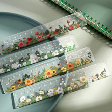 Drawing-Tools Rulers Flower Office-Supplies Daisy DIY Multifunction 15cm School Student