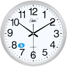 Living Room White Wall Clock Modern Silent Quartz Office Kitchen Watch Mechanism Bedroom Horloge Reloj De Pared Wall Clocks Hot cheap Brief circular Glass Crystal Single Face 15 mm Thick Plate PLANT Loudspeaker Mute Separates Needle Plastic Laminated Paper