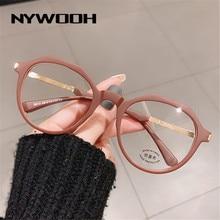 NYWOOH-gafas con bloqueo de luz azul TR90 para hombre y mujer, lentes de ordenador ópticas redondas irregulares, montura para Miopía