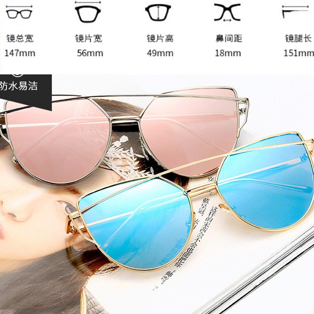 Lunettes de soleil avec effet miroir miroir pour femme Motif /œil de chat