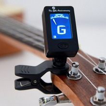 Portable Mini LCD Display Chromatic Clip-On Tuner for Acoustic Guitar Bass Violin Ukulele Musical Instrument aroma at 600 digital tuner for guitar ukulele violin bass chromatc lcd sensitive guitarra musical instrument free shipping