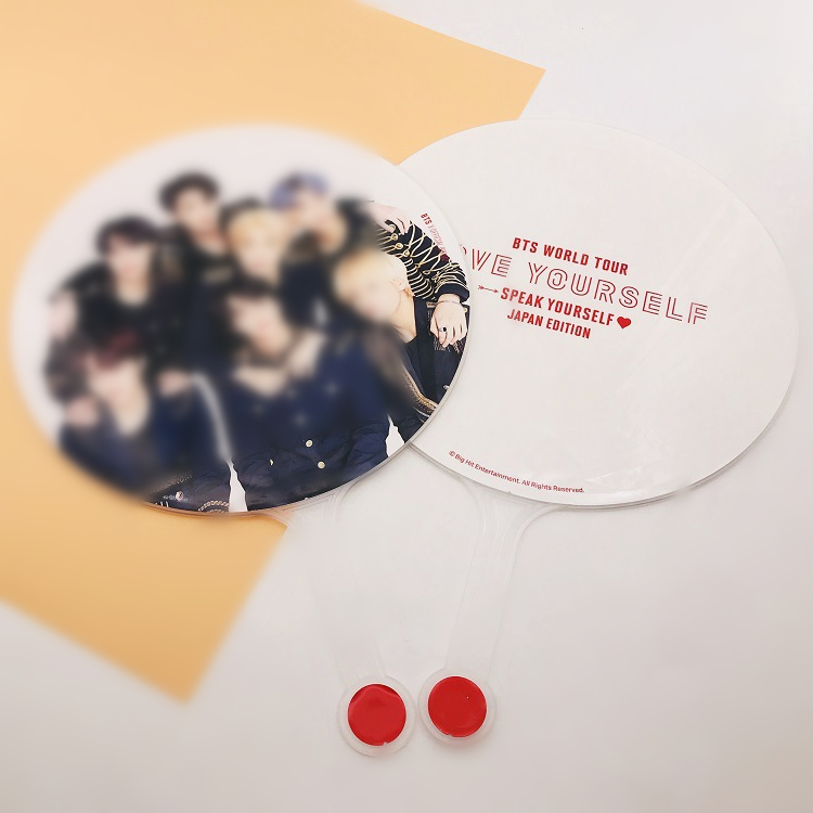 Kpop Bangtan Boys WORLD TOUR LOVE YOURSELF SPEAK YOURSELF JAPAN EDITION Offical Fans Big Round Fans Gifts 29.5*29.5CM