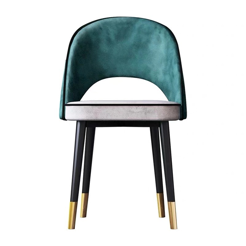 Nordic dining chair home simple chair restaurant banquet stool hotel with back chair coffee shop Office chair