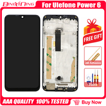 BingYeNing For Ulefone Power 6 LCD&Touch screen Digitizer with frame display Screen phone accessories assembly replacement Tools