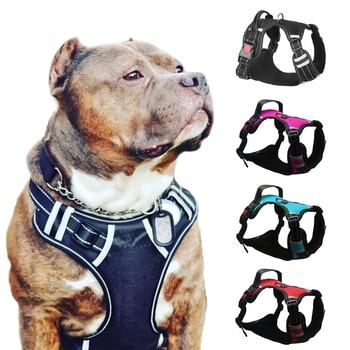 Big Dog Harness Breathable No Pull Small Medium Large Dog Vest Adjustbale Matching Leash Collar Reflective Pet Training Supplies 1
