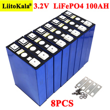 8PCS 3.2V 100Ah Battery LiFePO4 Lithium phospha Large capacity DIY 12V 24V 48V Electric car RV Solar Energy storage system