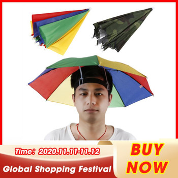 1 sztuk regulowany czapki wędkarskie składane nakrycia głowy czapka parasolka czapka sportowa piesze wycieczki czapki wędkarskie akcesoria wędkarskie Dropshipping tanie i dobre opinie CN (pochodzenie) Foldable and lightweight Stałe Wodoodporna Poliester Polyester Rainbow 55CM manual plastic