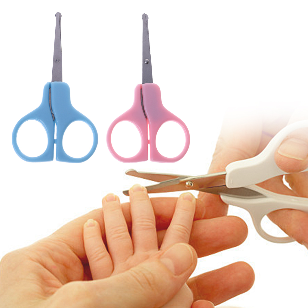Baby Nail Scissors Cutter Clippers Infant Toddler Manicure with Safety Tip