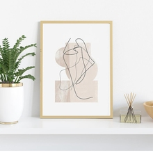 Contemporary Abstract Line Drawing Prints Modern Wall Art Canvas Painting Nordic Minimalist Style Poster Aesthetic Room Decor