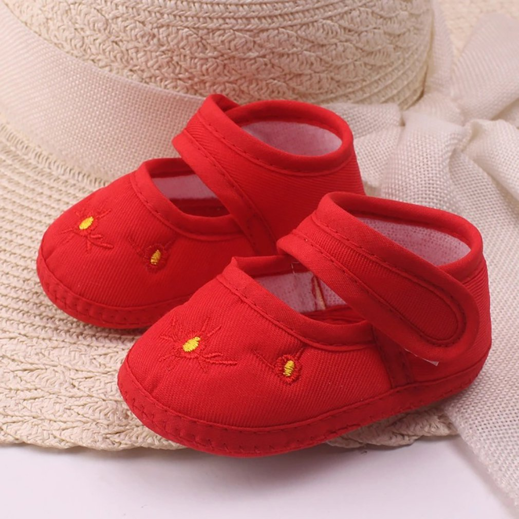 Fashion Flower Baby Shoes Anti-skid Soft Outsole Cute Bowknot Toddlers Shoes For Baby Girls Lightweight Casual Shoes