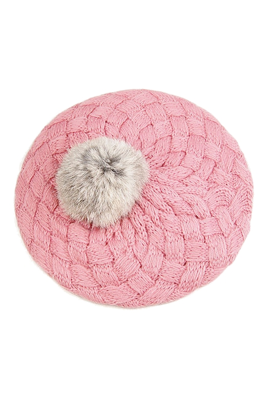 Cute Baby Winter Warm Toddler Infant Knit Crochet Beanie Hat Cap Kids Girl Child - Pink