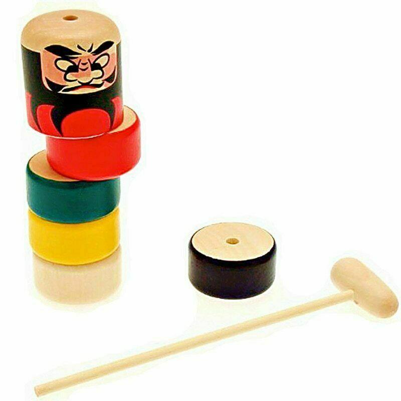 2019 Immortal Daruma Magic Stubborn Wood Man Wooden Funny Magic Toy Unbreakable