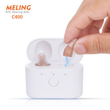 C400 Digital Hearing Aid USB Tpye C Rechargeable Mini In Ear Invisible Hearing Aids Assistant Adjustable Tone Sound Amplifier