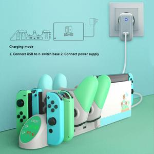 Image 5 - PG 9187 6 in 1 Charging Dock Stand Base Fit for Nintend Switch Joy Con Pro For Nintendo Switch Pro Gamepad Charger Stand