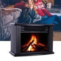 Chauffage électrique réglable foyer électrique Portable Mini table effet de flamme réaliste chauffage plus chaud avec télécommande