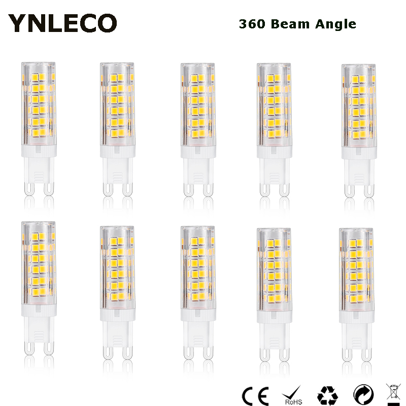 10pc G9 LED Lamp 220V 230V 240V 5W LED G9 4000K 75LED 2835 SMD 360 Degree Corn Bulb Equivalent 40W Halogen Spotlight Chandelier image