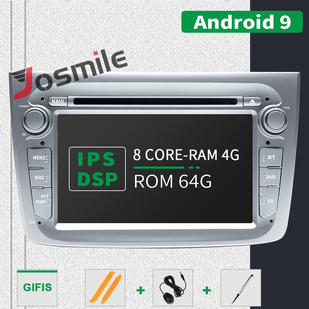 4GB 1 Din Android 9.0 Car Radio DVD Player For Alfa Romeo Mito 2008- Car Multimedia 8 Core RAM 4GB ROM 64GB GPS Navigation DSP image