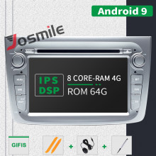 4GB 1 Din Android 9.0 Car Radio DVD Player untuk Alfa Romeo Mito 2008-Mobil Multimedia 8 Core RAM 4GB ROM 64GB Gps Navigasi DSP(China)