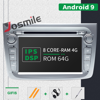 4GB 1 Din Android 9.0 Car Radio DVD Player For Alfa Romeo Mito 2008- Car Multimedia 8 Core RAM 4GB ROM 64GB GPS Navigation DSP