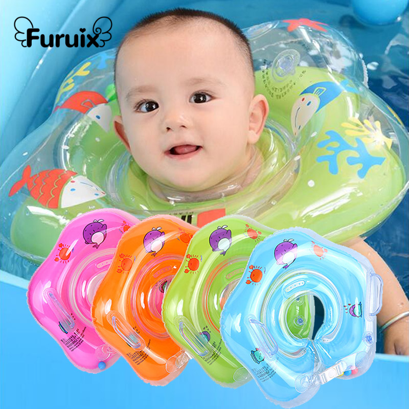 3-36 MonthsBaby Swimming Float Inflatable Baby Accessories Neck Ring Baby Pool Float Ring