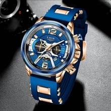Часы наручные lige мужские водонепроницаемые брендовые Роскошные