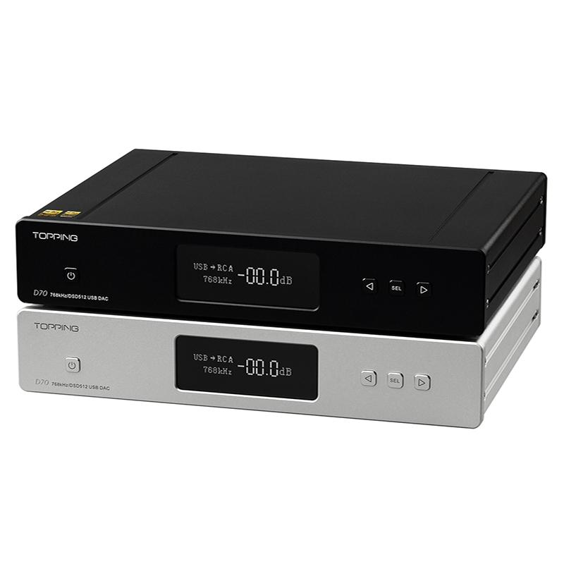 <font><b>TOPPING</b></font> <font><b>D70</b></font> Full Balanced DAC Amplifier Bluetooth XMOS XU208 AK4497 USB DAC Audio Amp Decoder DSD512 Optical Caoxial Input AMP image