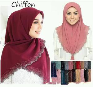 Image 3 - E2 10 pçs de alta qualidade corte a laser chiffon hijab xale cachecol feminino cachecol/cachecol senhora envoltório xale 180*75cm pode escolher cores