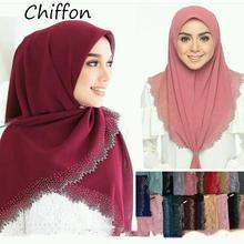 E2 10pcs High quality laser cut chiffon hijab shawl scarf women scarf