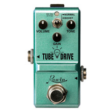 цена на Rowin LN-328 Tube Drive Guitar Analog Overdrive Pedal Classic Blues Pedals Distortion Box Normal & Boost Modes Mini Size