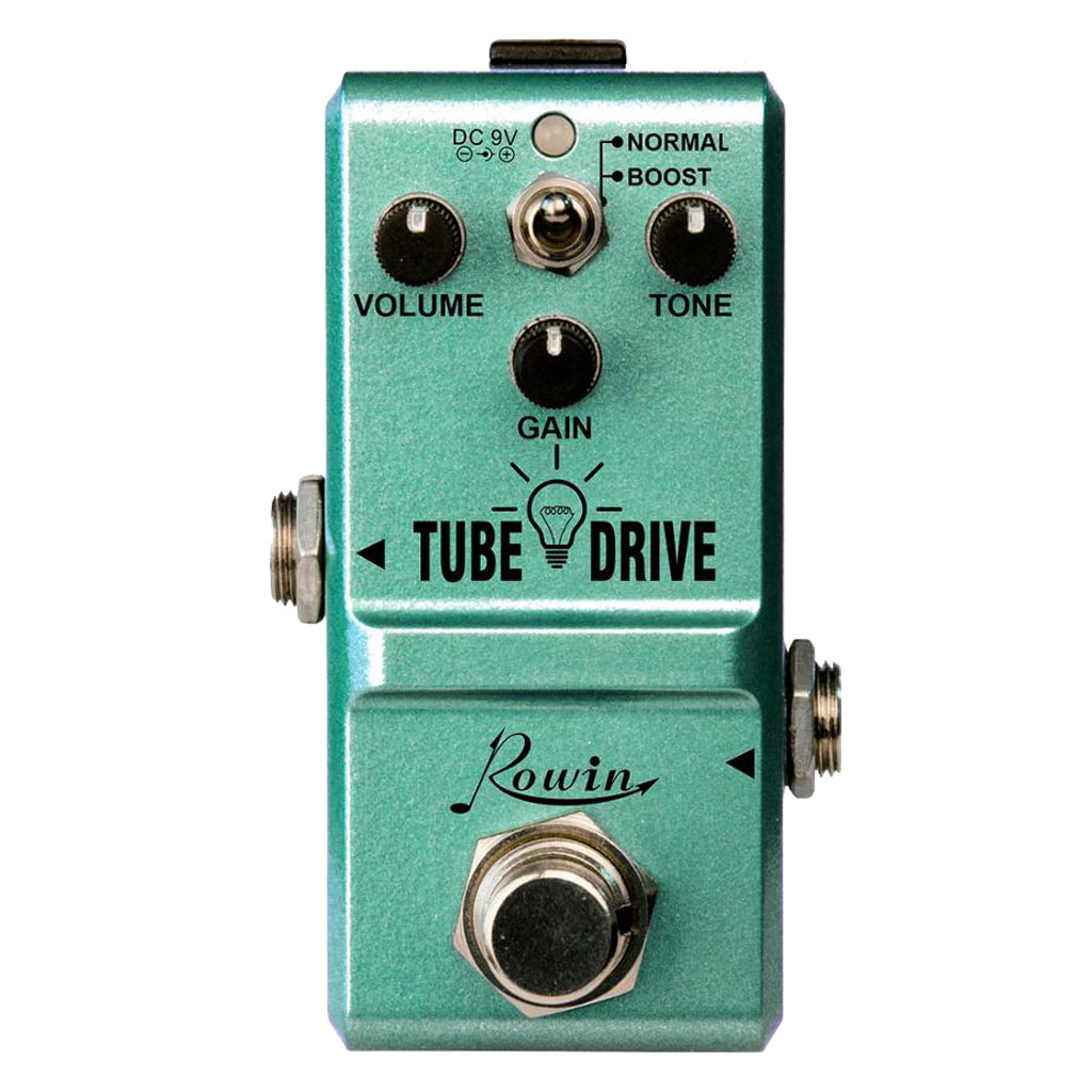 Rowin LN-328 Tube Drive Guitar Analog Overdrive Pedal Classic Blues Pedals Distortion Box Normal & Boost Modes Mini Size image
