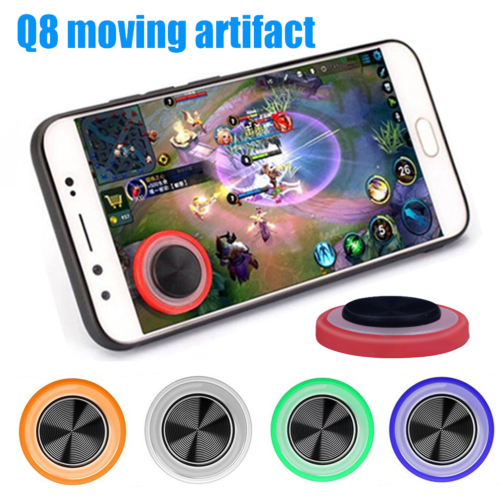 Green Q8 Mini Mobile Phone Tablet Game Sucker Joystick Touch Screen Controller Joypad