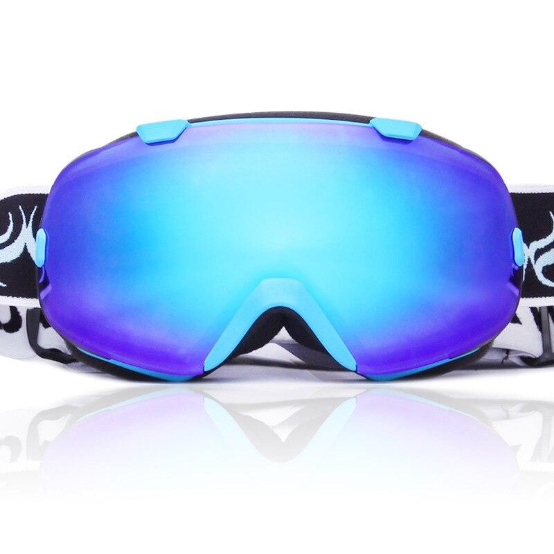 Lunettes de Ski sphériques Anti-buée Protection Double couches grandes lentilles lunettes hommes femmes lunettes de neige Ski UV400 Snowboard lunettes