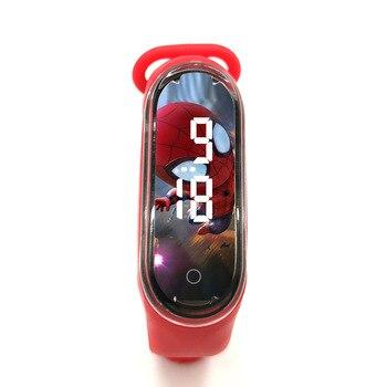 Pulsera electrónica para niños, reloj deportivo, LED, dibujos animados, regalo infantil