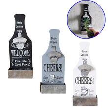 Творческий открывалка для бутылок пива деревянный настенный