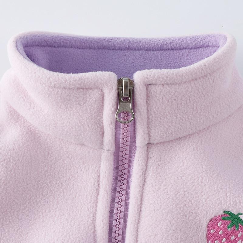 2-6Yrs Children Baby Girls Autumn Fleece Vest Kids Winter Waistcoat With Zipper 5