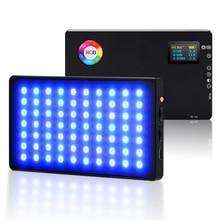 RGB Led Video Light CRI 96+ 360° Full Color 9 Lighting Effect 3200 7500K Adjustable 1 100% Stepless Dimming for Camera Photograp