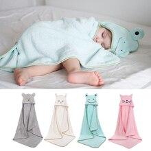 Baby bath towel Super absorbent poncho newborn cute cartoon embroidered hooded towel  beach Spa quick-drying bathrobe towel