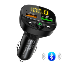 Lovebay Car FM Transmitter LED Bluetooth MP3 Player Dual USB Fast Char