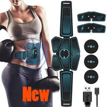 цена на Abdominal Stimulator Muscle Trainer ABS EMS Massage Toner Electric Slimming Machine Body Building Fitness Exercise Equipment