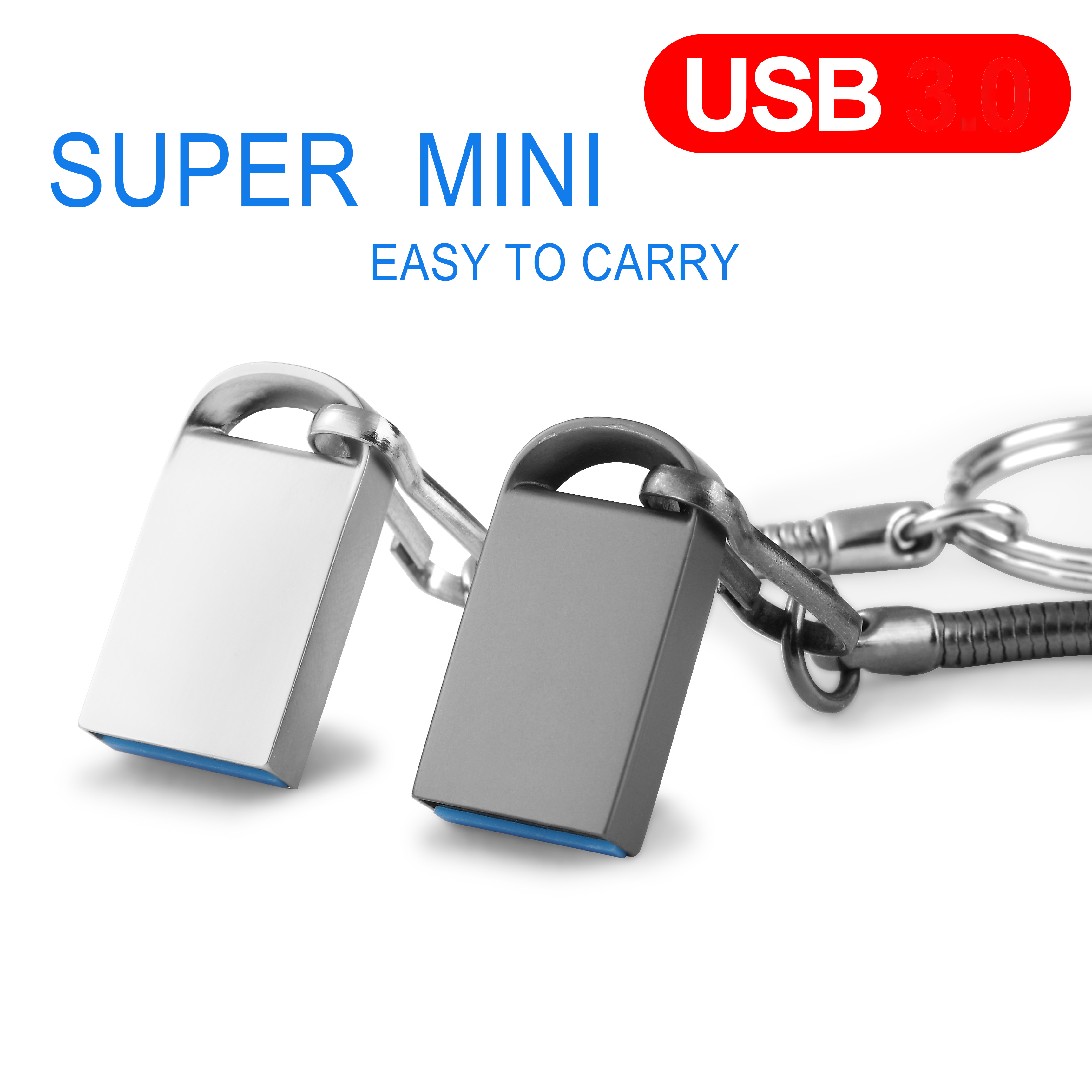 High Speed Pen Drive 64GB Pendrive 128GB USB Flash Drive 32GB Cle Usb Memory 16GB Flash USB Stick And Free Micro Type-c Adapter