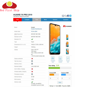 Image 4 - 10 pz/lotto Dello Schermo di Tocco Per Huawei Y6 Prime 2019 Sensore Touch Panel Digitizer Anteriore In Vetro Esterno Touchscreen NO LCD Y6 pro 2019