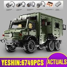 Yeshin J907 motorlu teknik araba MOC Nomadism RV motorum modeli yapı taşları tuğla montaj çocuklar noel oyuncaklar hediyeler