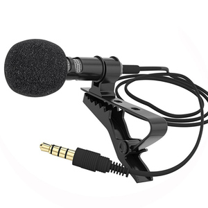 1/2 PCS Microphone Mobile Phone Lapel Lavalier Clip-on Tie Long Cable For Speaking Speech Lectures Collar Clip Mikrofon(China)