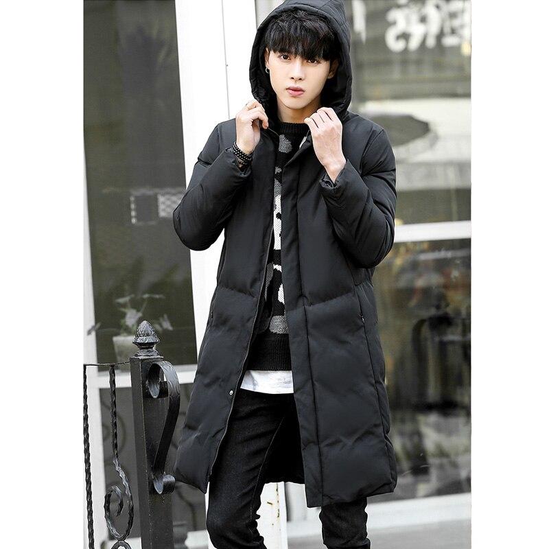 Мужская зимняя куртка, длинная Мужская парка, новинка 2020, Толстая теплая хлопковая куртка с капюшоном, приталенная Повседневная ветрозащит...