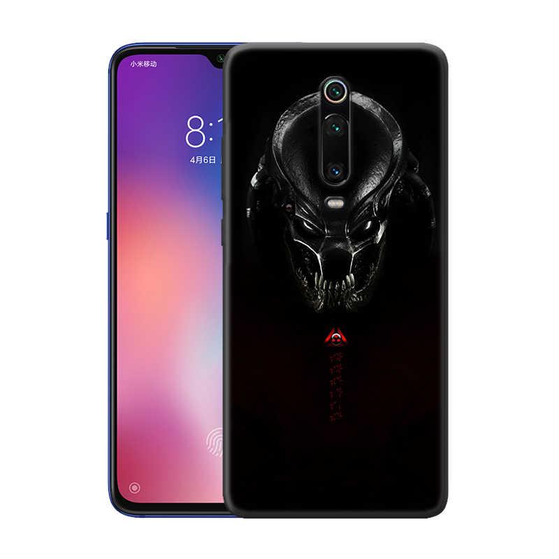 Alien vs Predator Caso per Caso Xiaomi Redmi Nota 9S 8 8T 7 7A K30 Zoom Mi 9T 10 9 Pro A3 X2 F2 Nero TPU Del Telefono Coque Carcasa
