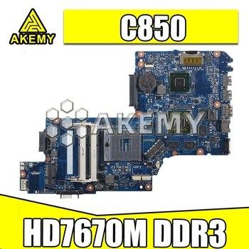 NUOVA scheda madre del computer portatile Per Toshiba Satellite C850 L850 schermo da 15.6 pollici H000052750 H000052580 scheda Principale HD 7670M DDR3 SMT Motherboard Store